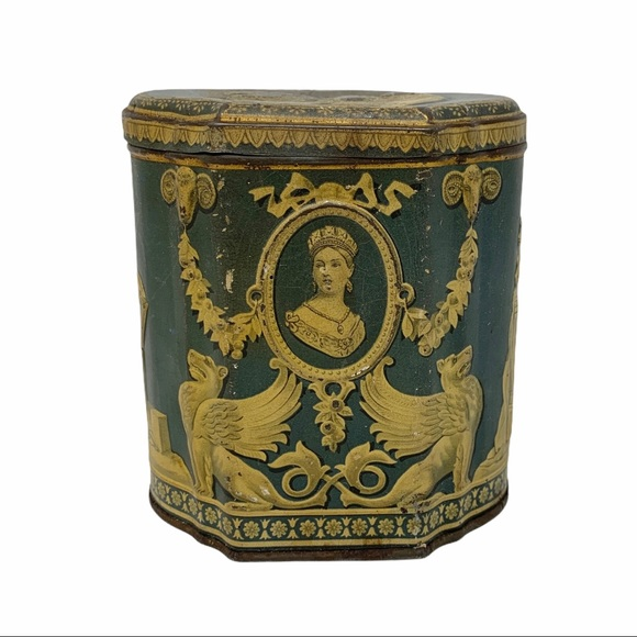 Antique W&R Jacob Co. English Biscuit Tin